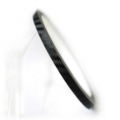 Bandes adhesives en vinyle effect carbone pour moto - 7/10mm x