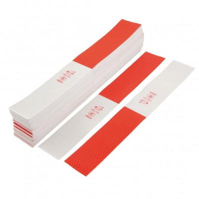 Pegatinas adhesivas reflectantes roja y blanca de la marca 3M™
