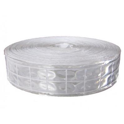 Bande réfléchissante à coudre gris argentée en PVC - 25/50 mm