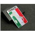 Bandiera adesiva Italia 3D in alluminio vendita online