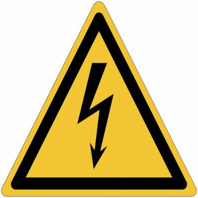 Panneaux adhésifs danger électricité ISO 7010 - W012 vente en