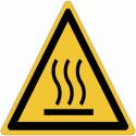 Cartelli adesivi di pericolo ISO 7010 Superficie calda W017