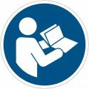 Cartelli adesivi di obbligo ISO 7010 Leggere il manuale di