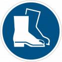 Cartelli di obbligo adesivi ISO 7010 Calzature di sicurezza