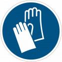 Pictograma adhesivo ISO 7010 - Guantes protectores obligatorios