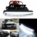 2 faros antiniebla con 8 LED DRL blancas venta en línea