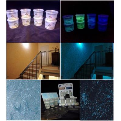 Aditivo en gránulos de vidro fotoluminiscente que brilla en la