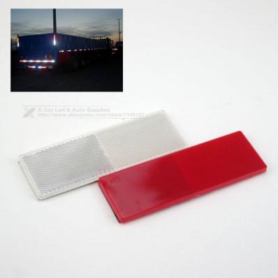 Paire de catadioptres autocollants de plastique en 2 couleurs