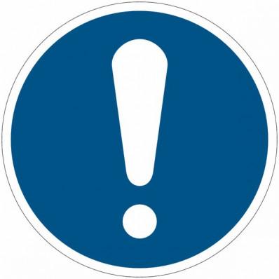 Panneaux autocollants ISO 7010 - obligation générale M001