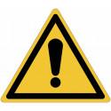 Señales autoadhesivos EN ISO 7010 Peligro genérico W001 venta
