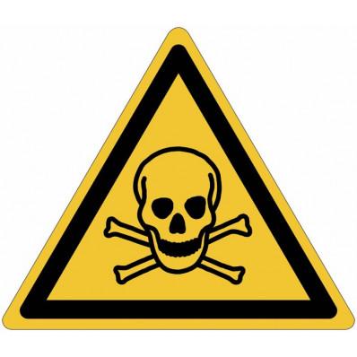 """Panneaux autocollants ISO 7010 """"Matières toxiques"""" - W016"""