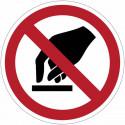 """Cartelli di divieto ISO 7010 """"Vietato toccare"""" - P010 vendita"""