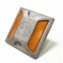 Reflector de carretera para suelo en aluminio - 100x100x20mm
