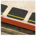 Pareja de Pegatinas cuadradas adhesivas antideslizante negras