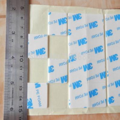 100 Autocollants carrés double face 3M™ T1600 PE FOAM VHB à