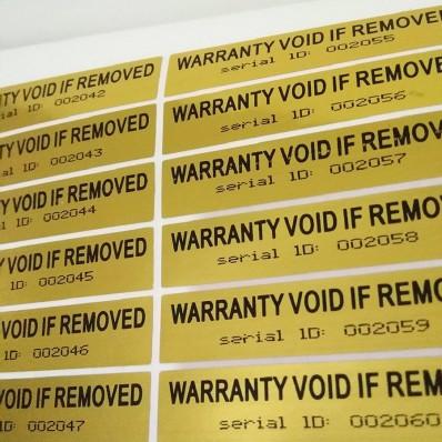 100 Sellos adhesivos anti manipulación con precinto y ID de