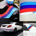 Bandera adhesiva brillante deporte de carreras de la serie BMW