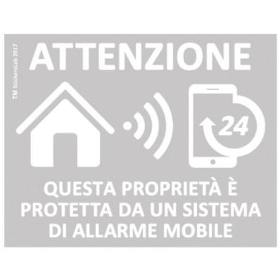 4 Pegatinas de advertencia GPS y antirrobo para propiedad