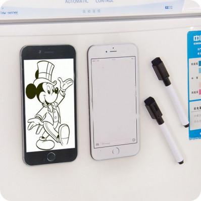 Tableau Blanc Magnétique pour réfrigérateur à forme de Iphone