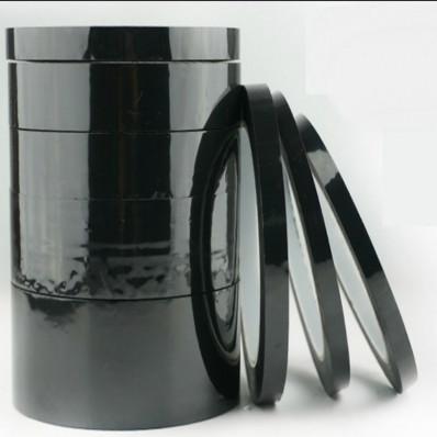 Nastro adesivo nero siliconico mascheratura in poliestere per
