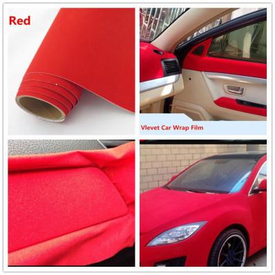 Nastro pellicola adesiva in velluto rosso wrapping per tuning e