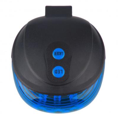 Luce posteriore per bicicletta a led blu con laser segnalazione