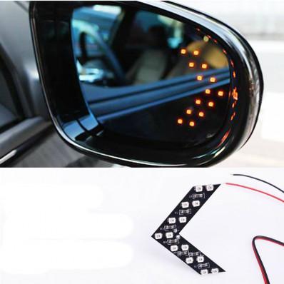 2 flèches clignotantes avec 14 LED SMD pour rétroviseurs de