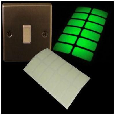 Autocollants phosphorescents pour interrupteur - 24 pièces