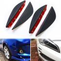 4 Alette protezione paraurti in ABS fibra carbonio modellabile