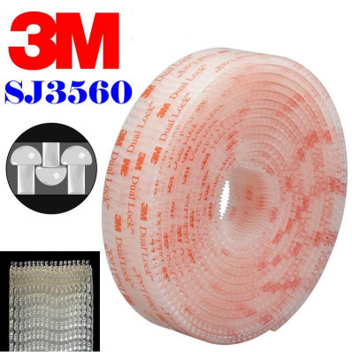Rollo en velcro adhesivo Dual Lock™ de la marca 3M™,serie SJ