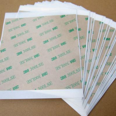 5 feuilles 3M ™ 300LSE 9495LE 100 x 100mm adhésif double face