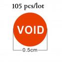 Etichette bollini adesivi arancione antimanomissione con