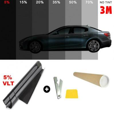 Pellicola omologata ABG oscuramento Vetri Auto 76cm da 5% a 45%