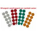 10 pegatinas circulares reflectantes para las ruedas de los