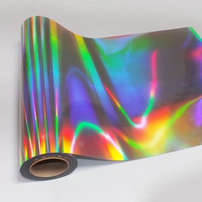 Pellicola adesiva effetto olografico cromato silver taglio al plotter