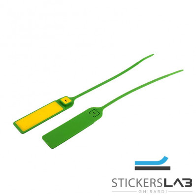 Sellos de seguridad antiintrusión en plástico con banda