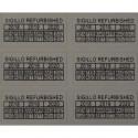 42 adesivi antieffrazione antirimozione REFURBISHED con data e