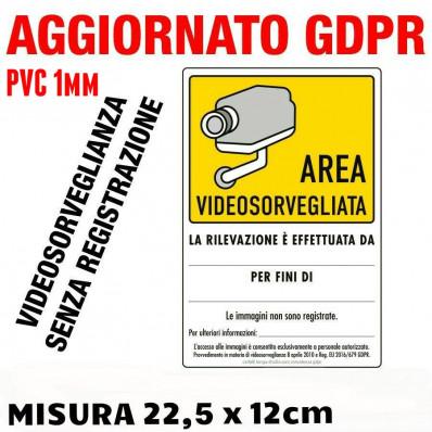 """2 Panneaux de dissuasion """"Propriéte sous vidéo surveillance"""" - 15 x 22,5 cm"""