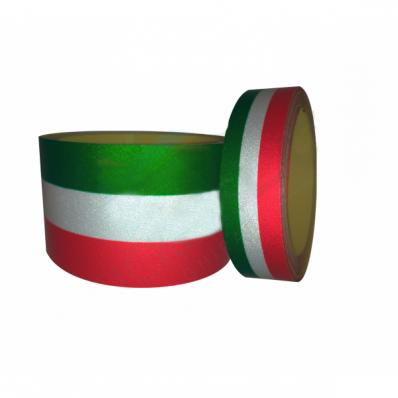 Bande adhesive réfléchissante drapeau italien pour voiture