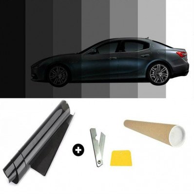 Pellicola oscurante antigraffio per vetri auto VLT 50% - 50cm x