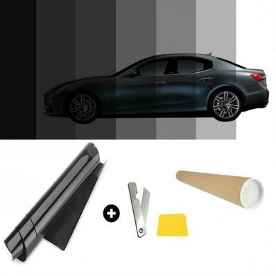 Film solaire teinté 50% VLT noir pour vitres de voitures -