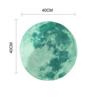 Luna luminiscente fosforescente adhesivo brilla en la oscuridad