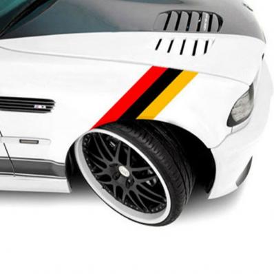 Pegatinas bandera alemana para los parachoques y capó de BMW