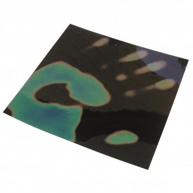 Foglio adesivo termocromatico a cristalli liquidi che cambia