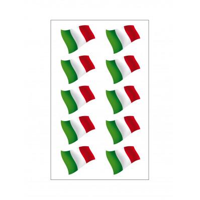 10 pegatinas de vinilo bandera italiana para coche, motoneta y