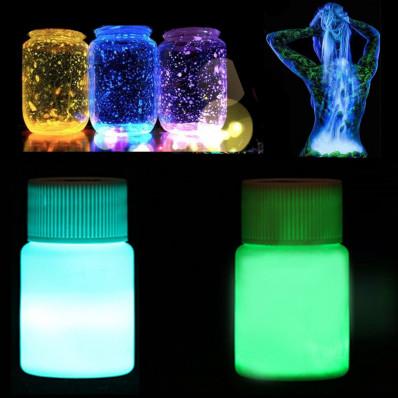 Vernice liquida additivo acrilico luminescente si illumina al buio