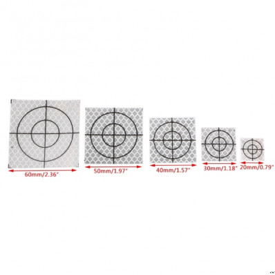 Target riflettenti rifrangenti adesivi 20/30/40/50/60mm