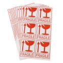 """50 Etichette adesive """"FRAGILE, maneggiare con cura"""" - 8x6cm"""