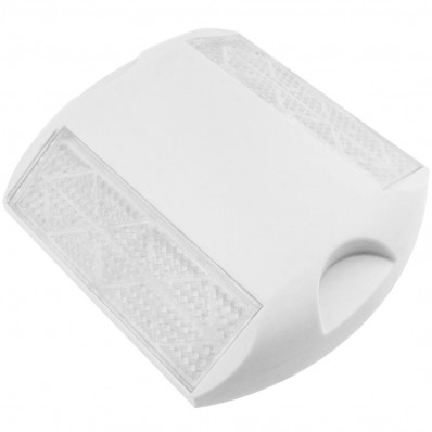 Riflettore catarifrangente bianco in plastica calpestatile